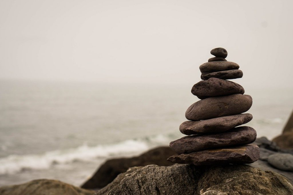 balance, stone, nature